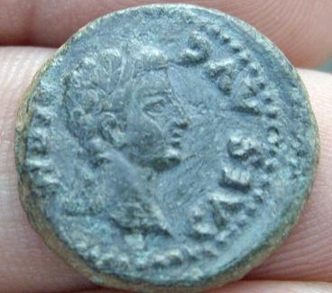 Semis hispanorromano de EMERITA AVGVSTA, bajo Augusto. Anvsemisemeritacaeforo