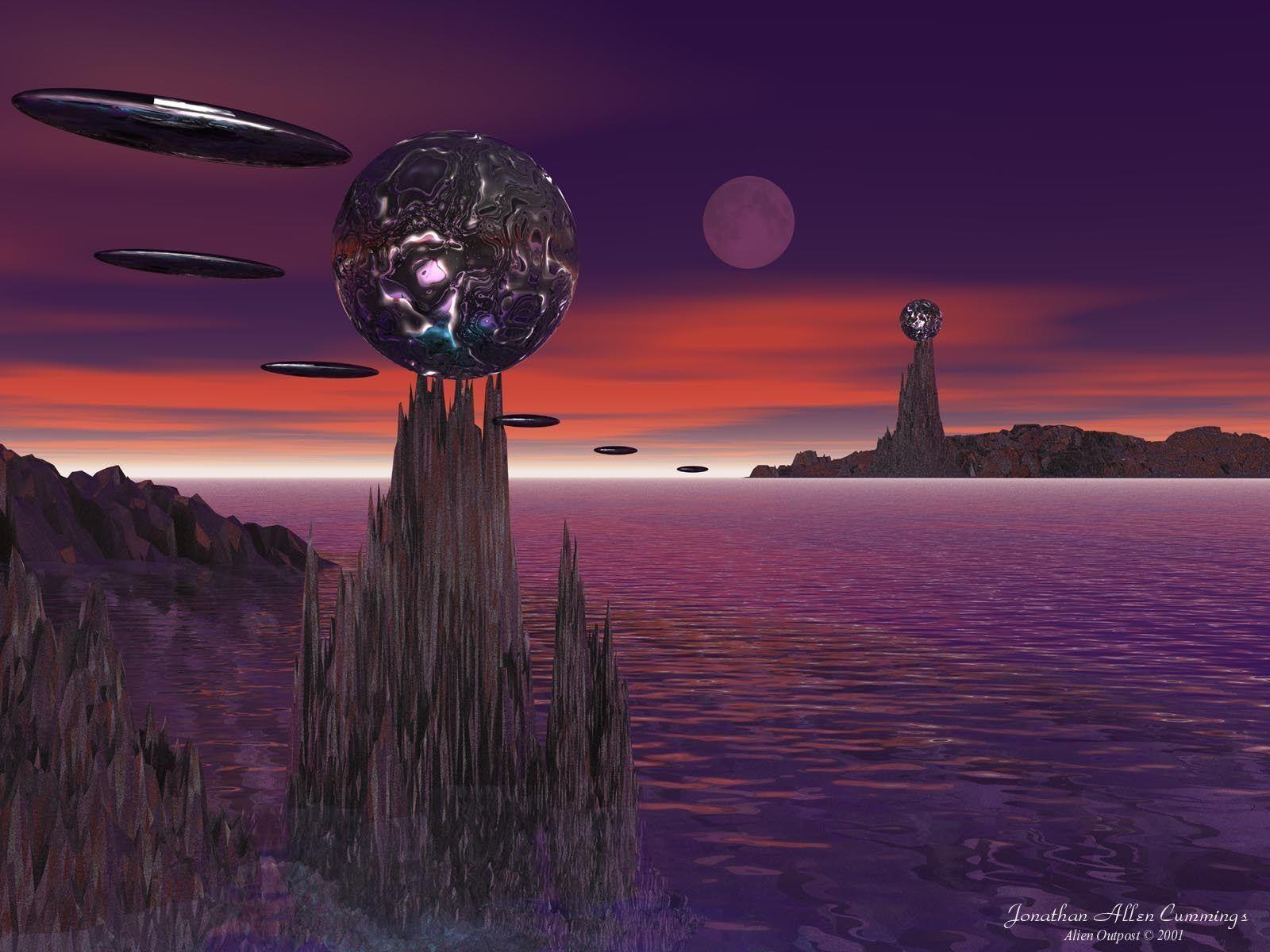 Hình 3D Alienoutpost