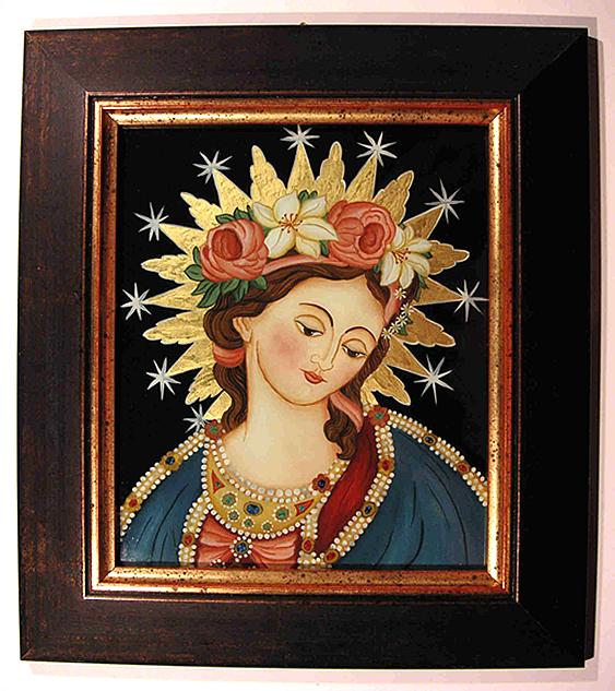 Imagen milagrosa de  Wessobrun / SS.  Corazones de Jesús y María  S.XVIII ( R.M. SXVIII-C43) Wessobrunnermadonna