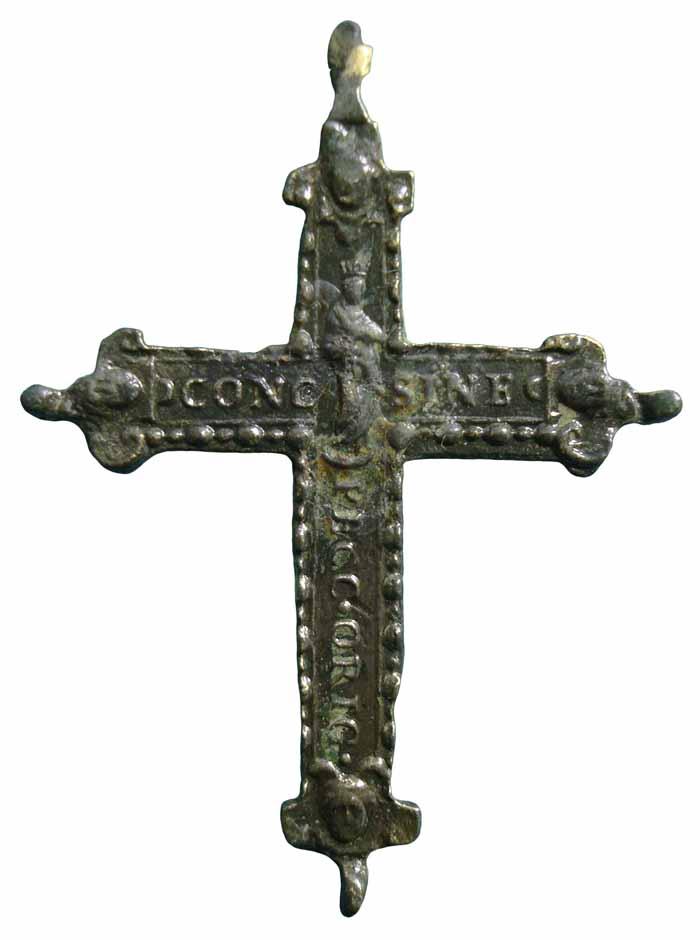 Crucifijo bifaz com pezuelos Inmaculada- S-XVII-  CC-019-[Pec045/S-XVII]* Cc019c