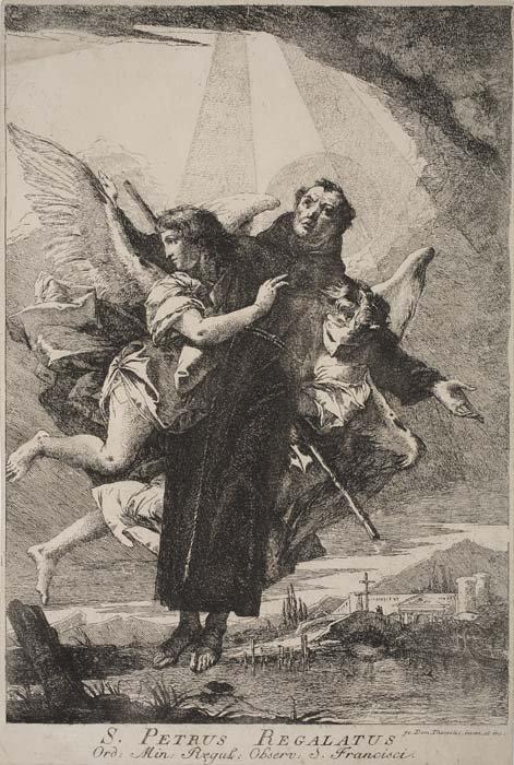 regalado - Beato Pedro Regalado / San Pascual Bailón  (R.M. SXVIII-C72) 6m41