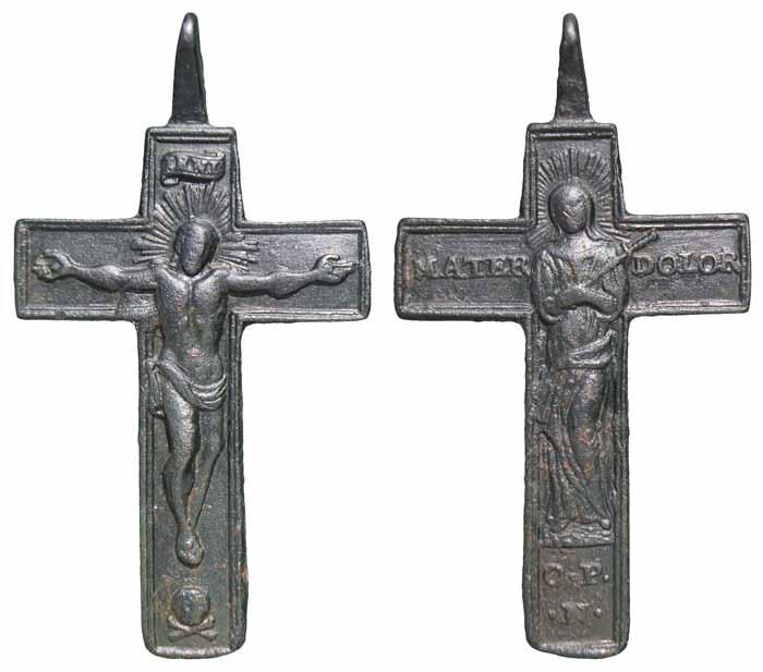 Cruz bifaz Virgen Dolorosa.  S-XVIII - CC(049) -[Pec022/S-XVIII]* Cc049