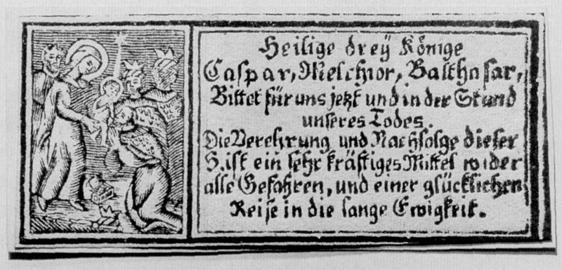 Adoración de los Magos / Inscripción - MR(357) H392