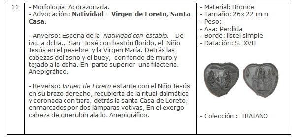 ICONOGRAFIA de la NATIVIDAD en las medallas devocionales Ficha11