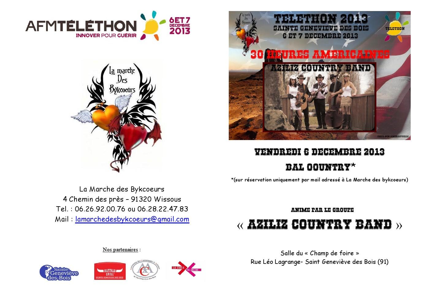 Téléthon 6 et 7 décembre 2013 St Geneviève des Bois (91) Mo80