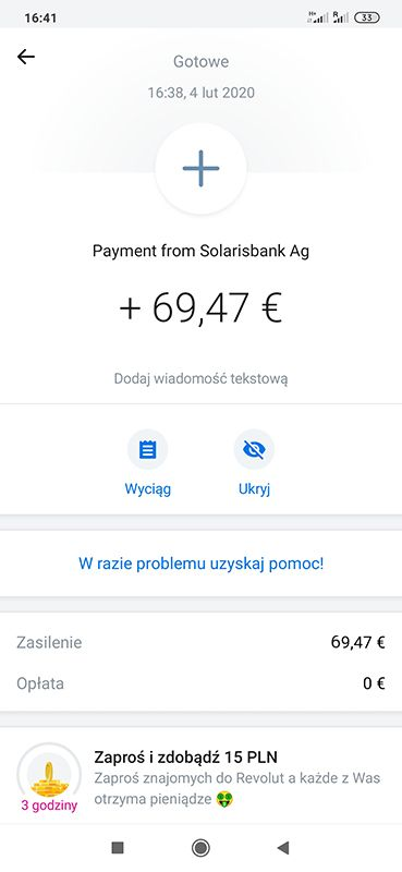 Bison 20 EUR za free od razu wypłacalne BP1W8v