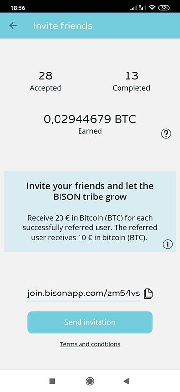 Bison 20 EUR za free od razu wypłacalne IOr33V