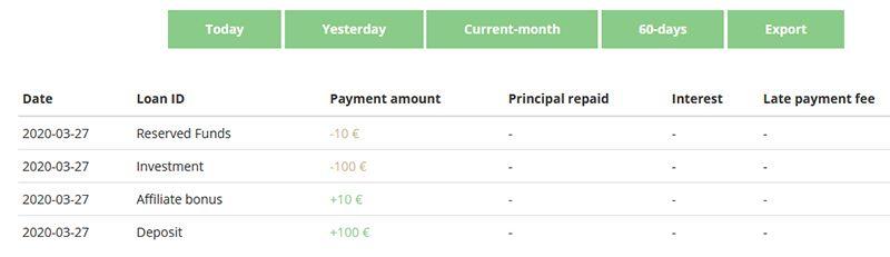 Lenndy - 10 EUR bonusu (+10 EUR za zaproszenie) XDTPHx