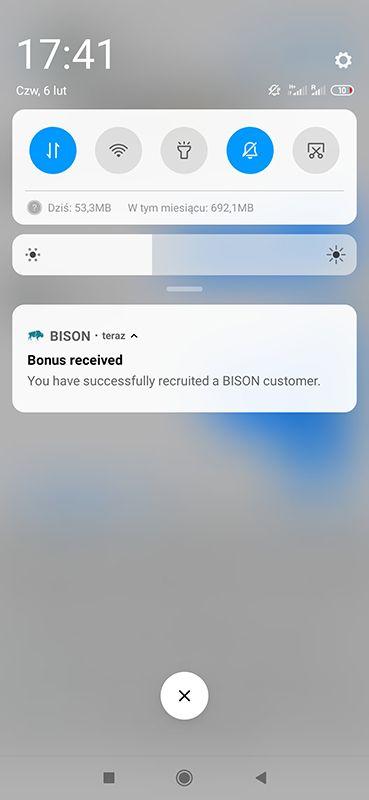 Bison 20 EUR za free od razu wypłacalne CexQ3b