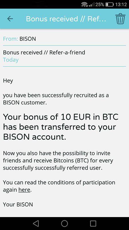 Bison 20 EUR za free od razu wypłacalne HwiCEb