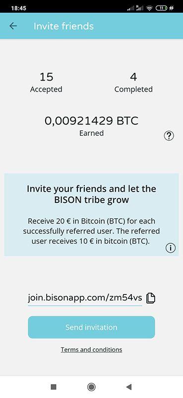 Bison 20 EUR za free od razu wypłacalne 86kAQ3