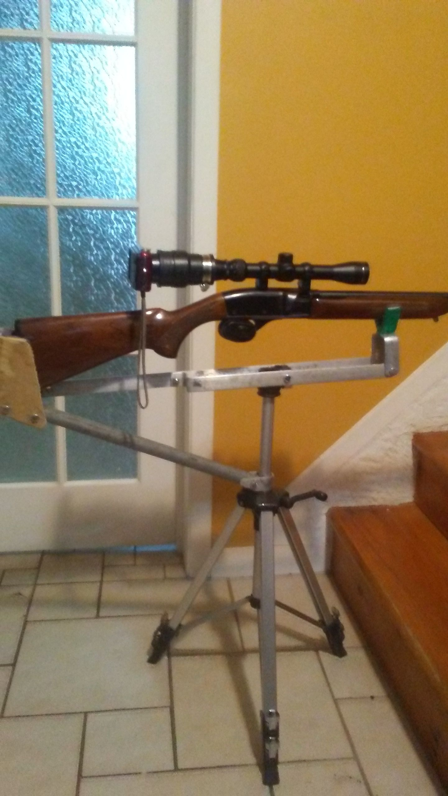 Support de tir carabine et caméra (home made)  Dv69Sp