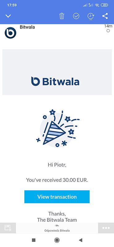 Bitwala - 30€ bonus Gl6PCa