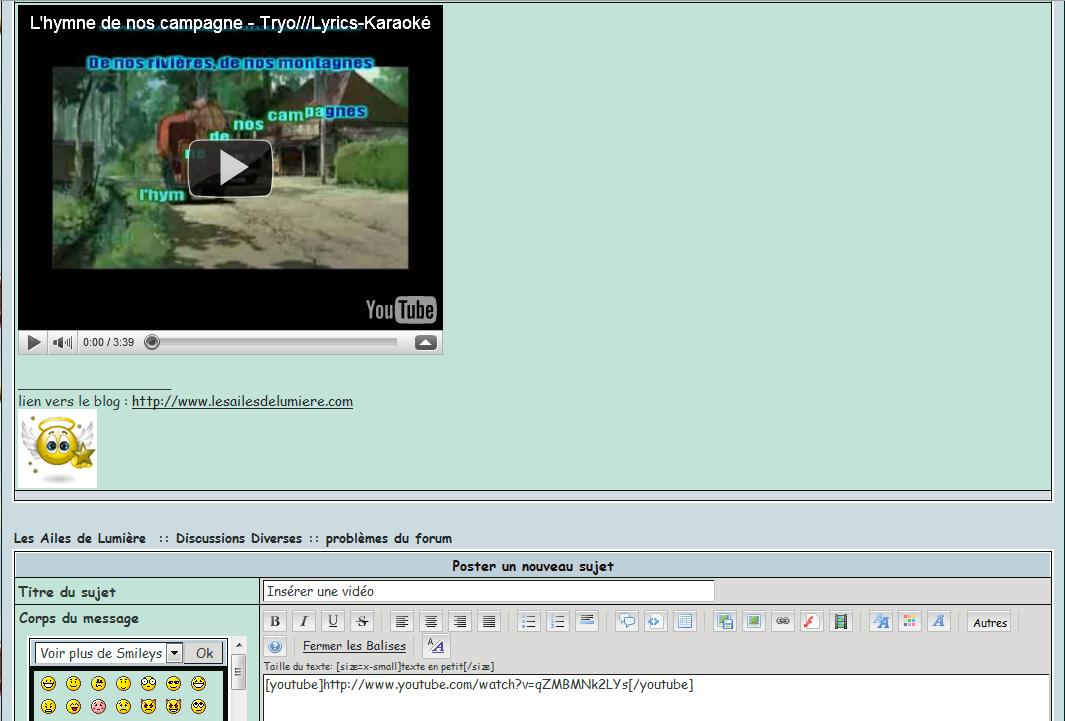 Insérer une vidéo Vido4