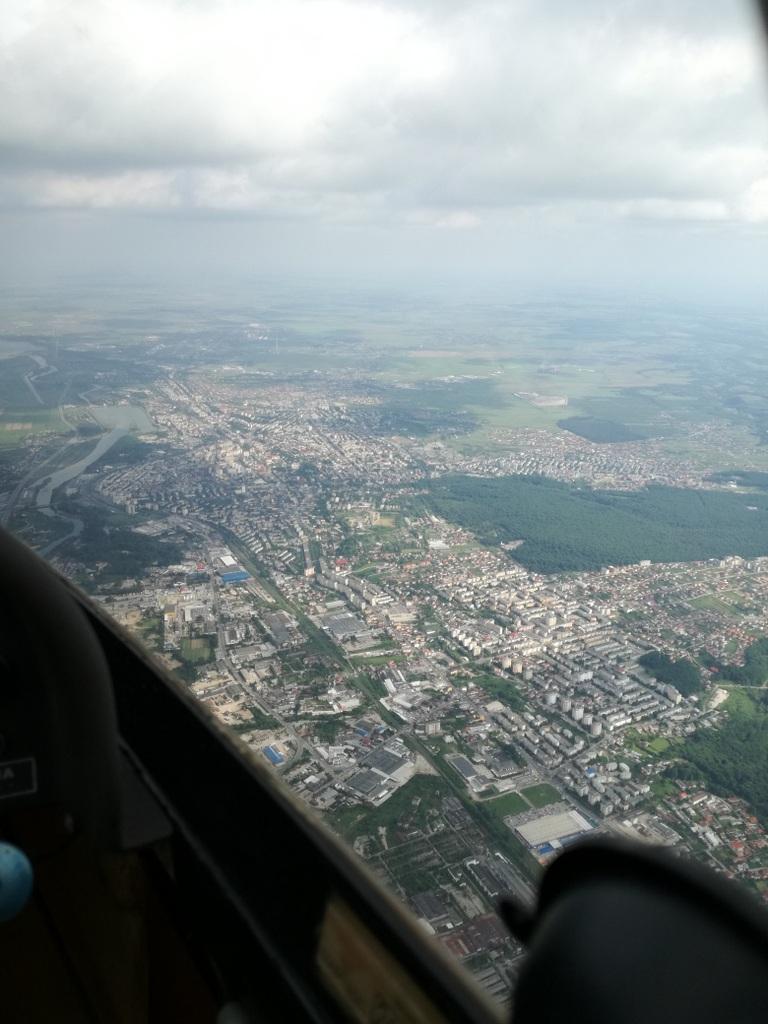 Topoloveni-Pitesti-Slatina-Alexandria-Topoloveni, cu planorul  XWzuU3