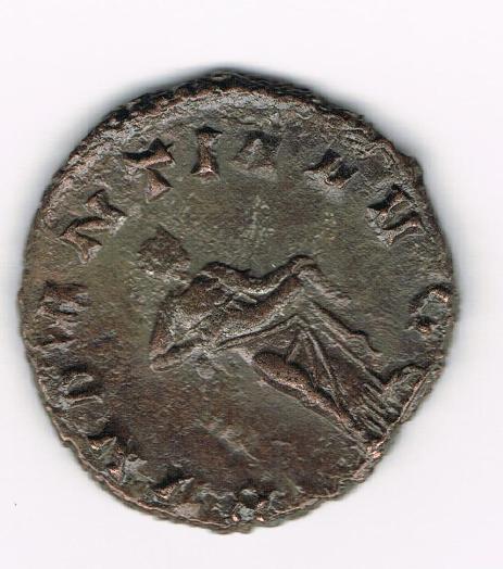 Antoniniano de Galieno. ABVNDANTIA AVG. Abundantia estante a dcha. Ceca Roma. U9usl0