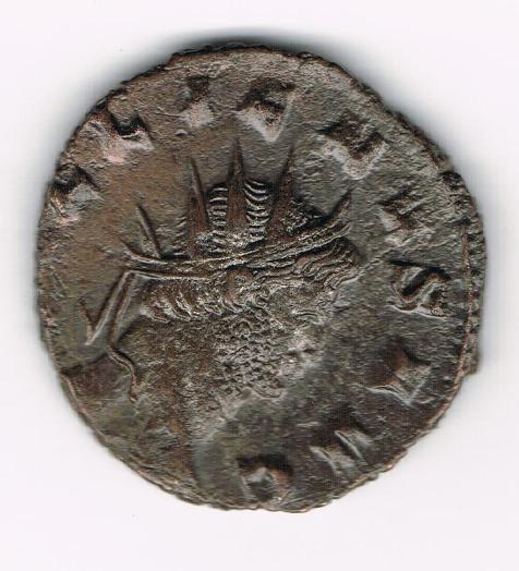 Antoniniano de Galieno. ABVNDANTIA AVG. Abundantia estante a dcha. Ceca Roma. 15rgBs