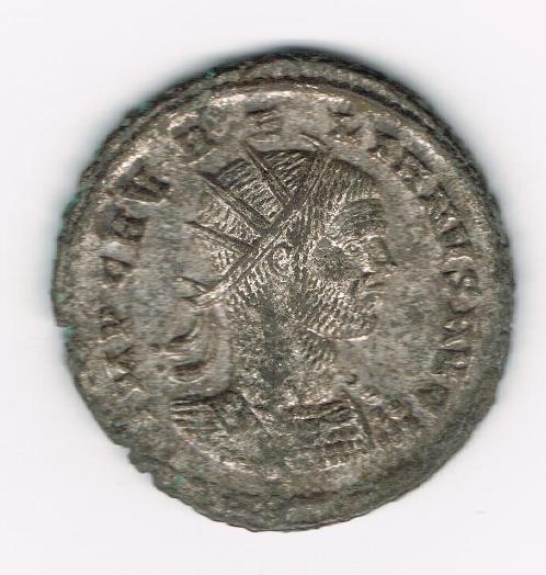 Antoniniano de Aureliano. RESTITVTOR ORBIS. Mujer y emperador estantes y enfrentados. Ceca Cyzicus. ZHTJFo