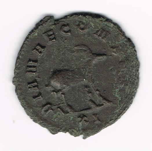 Antoniano de Galieno. DIANAE CONS AVG. Antílope o gacela andando a dcha. Ceca Roma. BfQJYP