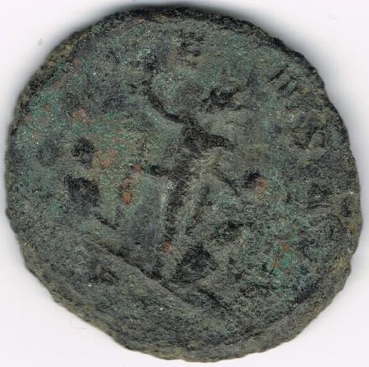 Antoniniano de Aureliano. ORIENS AVG. Sol estante entre dos cautivos. 0A2lF7