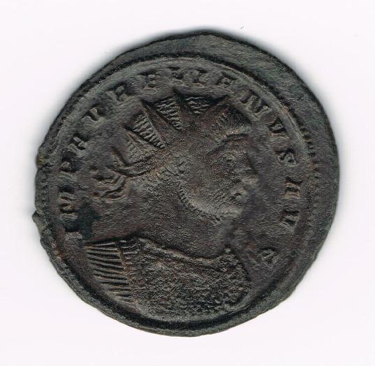 Antoniniano de Aureliano. IOVI CONSER. Emperador y Júpiter estantes enfrentados. Ceca Siscia. YLr3OQ