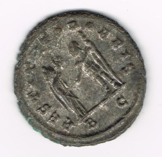 Antoniniano de Aureliano. RESTITVTOR ORBIS. Mujer y emperador estantes y enfrentados. Ceca Cyzicus. W1Hjnu