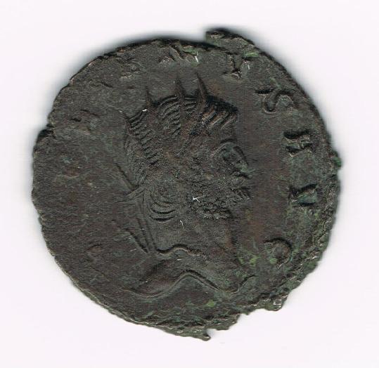 Antoniano de Galieno. DIANAE CONS AVG. Antílope o gacela andando a dcha. Ceca Roma. FHti1l