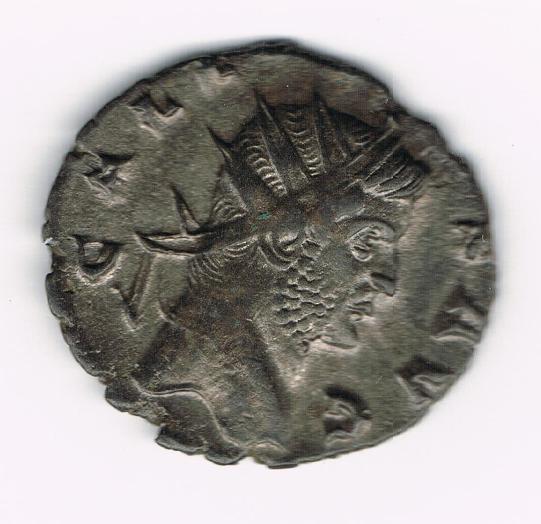 Antoniniano de Galieno. FORTVNA RED. Fortuna estante a izq. Ceca Siscia. 7P2Thh
