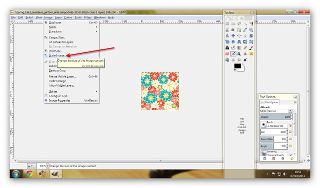 Recolouring Using A Seamless Image PsaxW8