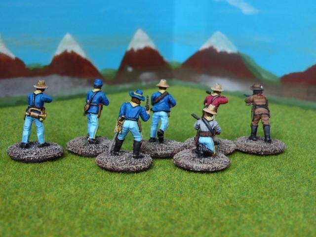 Soldats à pied du 7th de cavalerie US. RazQNP
