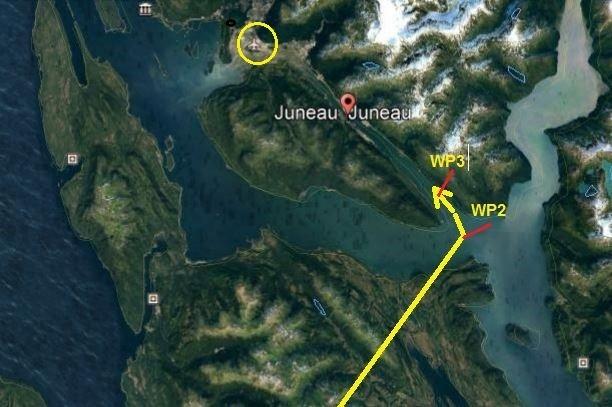 Visual approach Juneau. Cu4Dj8