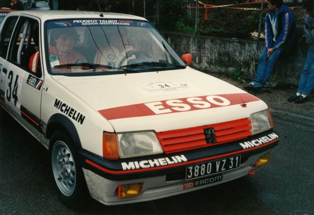 205 GTI 1.6 Gr. N et Gr. A / E.SENEGAS (1988 à 1991) VymOET