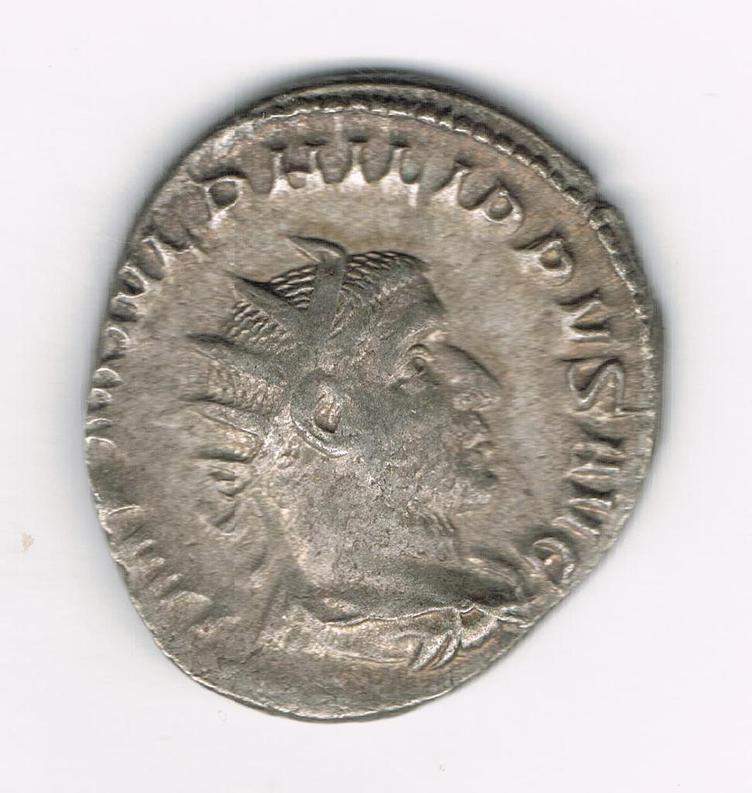 Antoniniano de Filipo I. SECVRIT ORBIS. Securitas sedente a izq. Ceca Roma. TsDZFy