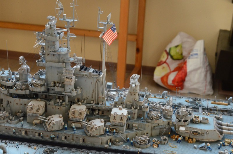 Diorama Terminé du Dock Flottant ABSD et cuirassé BB-59 au 1/350 de Trumpeter Mp2ZAf