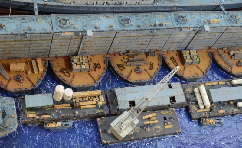 Diorama Terminé du Dock Flottant ABSD et cuirassé BB-59 au 1/350 de Trumpeter OPtv7t