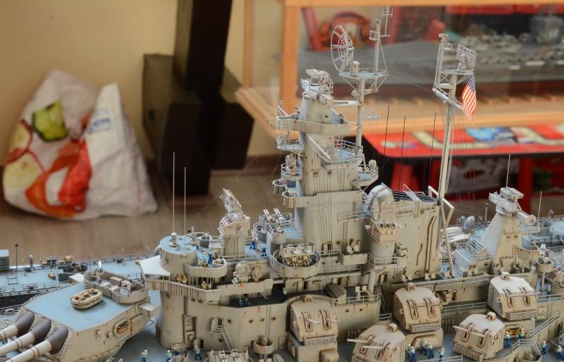 Diorama Terminé du Dock Flottant ABSD et cuirassé BB-59 au 1/350 de Trumpeter Viin4d