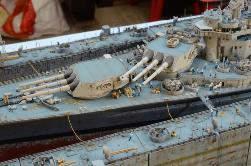 Diorama Terminé du Dock Flottant ABSD et cuirassé BB-59 au 1/350 de Trumpeter 5awN4n