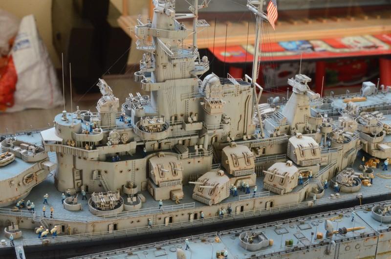 Diorama Terminé du Dock Flottant ABSD et cuirassé BB-59 au 1/350 de Trumpeter EFU5iN