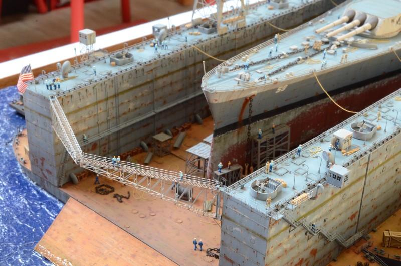 Diorama Terminé du Dock Flottant ABSD et cuirassé BB-59 au 1/350 de Trumpeter G3wqYV