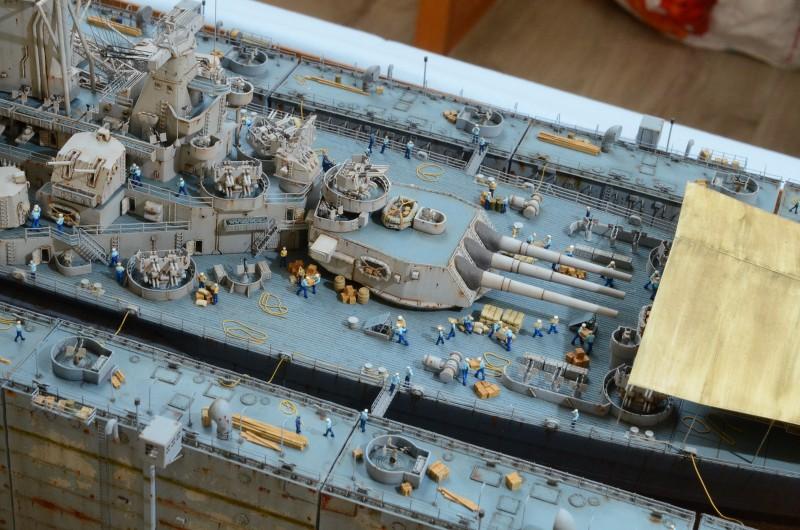 Diorama Terminé du Dock Flottant ABSD et cuirassé BB-59 au 1/350 de Trumpeter 7kiVMf
