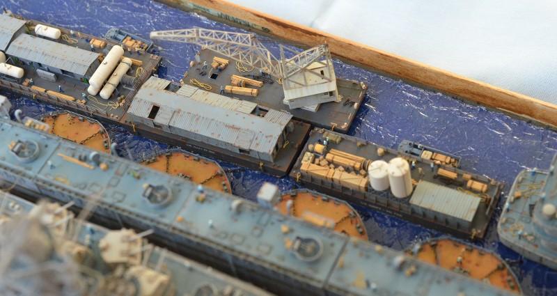 Diorama Terminé du Dock Flottant ABSD et cuirassé BB-59 au 1/350 de Trumpeter OGqyBy