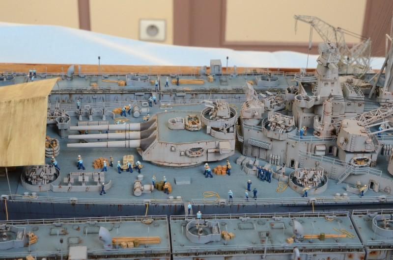 Diorama Terminé du Dock Flottant ABSD et cuirassé BB-59 au 1/350 de Trumpeter D1aGYR