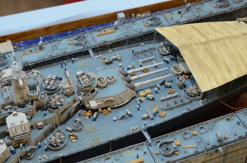Diorama Terminé du Dock Flottant ABSD et cuirassé BB-59 au 1/350 de Trumpeter AjmXdE