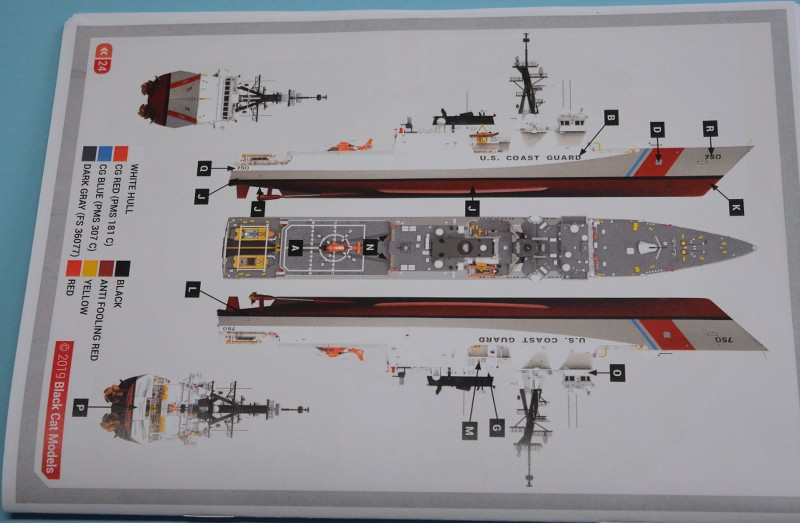 USCGS BERTHOLF 750 au 1/350 de chez Black Cat Model E4MTnF