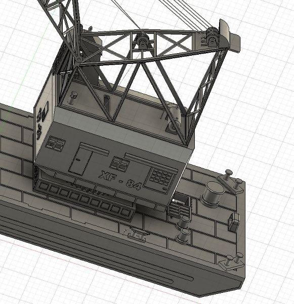 Grues sur barges & remorqueur (Impression 3D 1/350°) de NOVA73 EhWEbu
