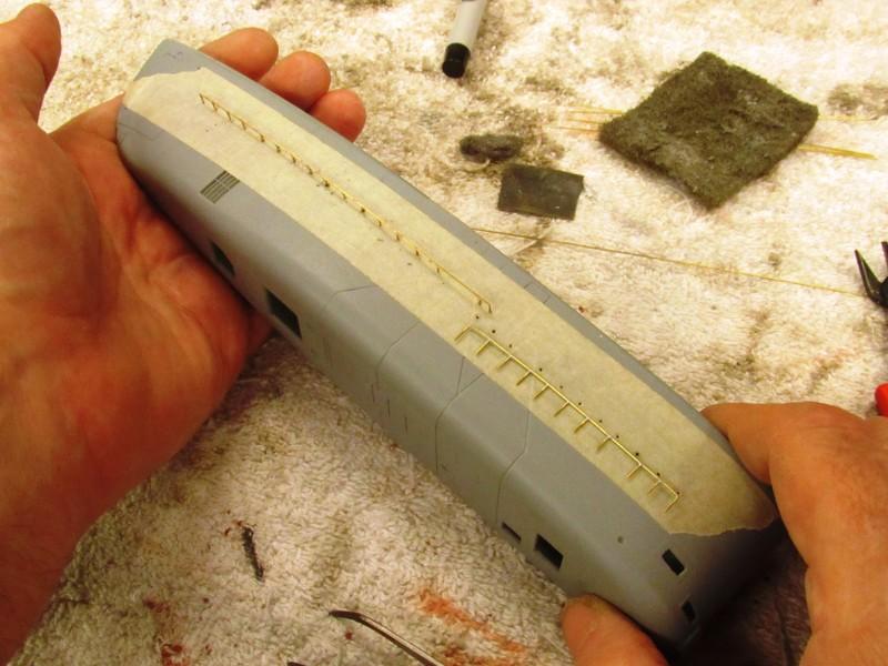 resistive soldering of hand-rails KH9Wvl