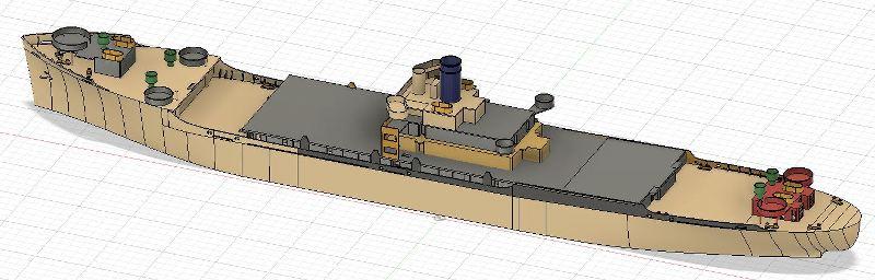 USS CAGE APA-168 au 1/350 QS04UN