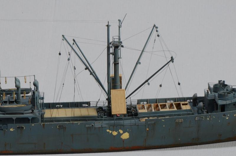 Diorama Port Mulberry A Omaha Beach 16 Juin 1944 au 1/350 - Scratch sur base Iron Shipwrights, Trumpeter et l'Arsenal YE8seD