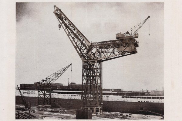 Grande grue 250 t port de Hambourg et Bismarck Revell au 1/350 3DLhyT