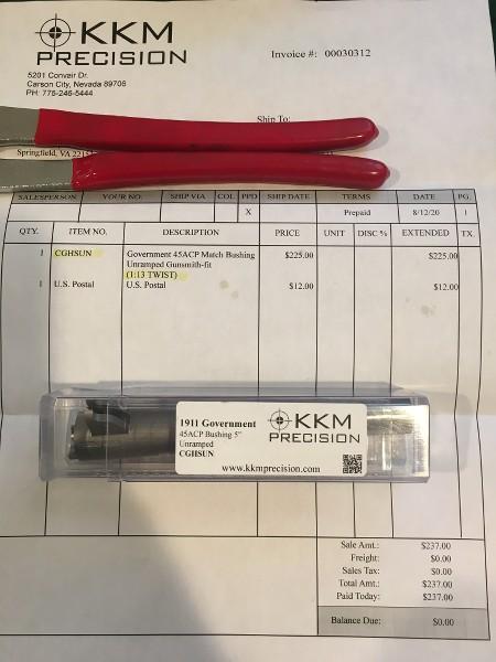 "SPF-KKM Precision .45acp Custom 1:13 Twist 5"" 1911 Barrel Fha7GI"